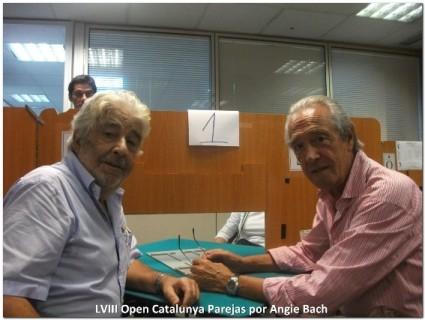 Vicente Casanovas y Jose Monguio (Presidente de la Federacion Catalan de Bridge)