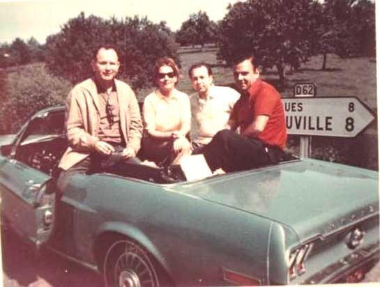 Deauville 1968, Jimmy Carey, Beba Rodrigué, David Zanalda y Agustin Santamarina..jpg