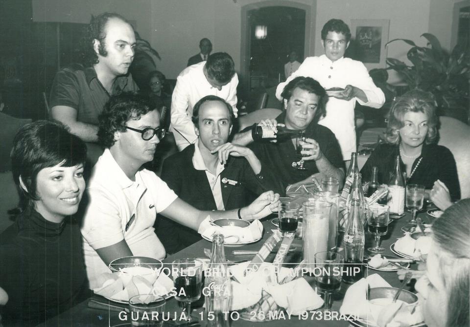 Lia Cintra, Gabino Cintra, Pedro Castello Branco,  Adelstano Porto D'Ave, Zilda Porto D'Ave de pie, Gabriel Chagas