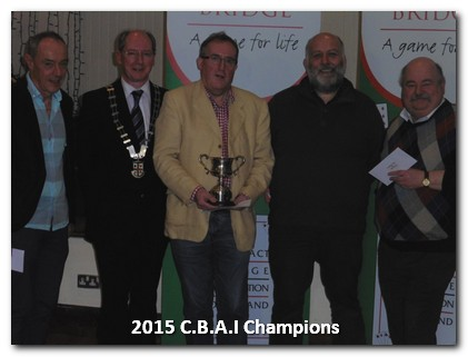 Geraldine Trophy Winners 2015: Gay Keaveney, Terry Walsh, Martin Jones, BJ OBrien.