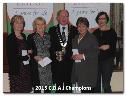 MacMenamin Winners 2015: Eileen McCann, Ann Fitzpatrick,Mary Kelly Rogers, Hilary Ferguson.