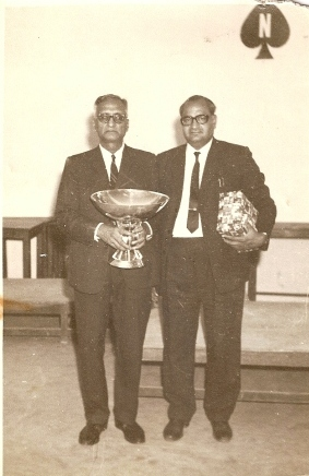 Vigyan Gupta winning  the HOLKER Trophy - National Pairs  with L.N.Vijay