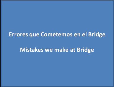 errores en bridge