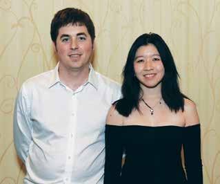 Aaron Jones and Sylvia Shi, winners of the Lebhar