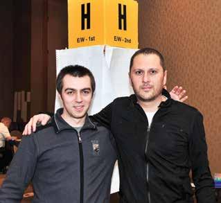 The 2014 Lebhar IMP Pairs winners were Radu Nistor and Julian Christian