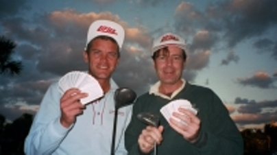 Jesper Parnevik con Larry Cohen