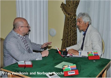 Vitas Vainikonis and Norberto Bocchi