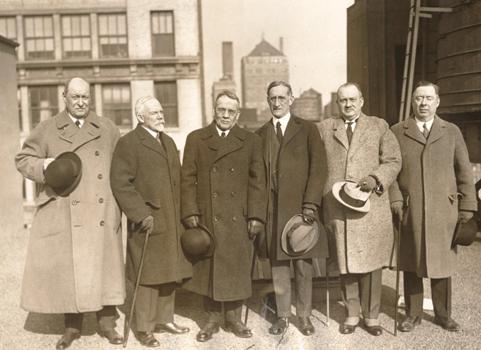 Milton Work, Robert F. Foster, E.V. Shephard, Sidney Lenz, Wilbur Whitehead, Gratz M. Scott