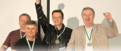 Team Blund - Aksel Hornslien, Boerre Lund, Olav Arve Hoeyem, Jorgen Molberg, Ole Berset,