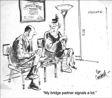 bridge cartoon Partner signals Nov 68