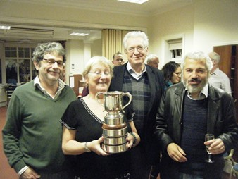 2015 Runners Up Barry Myers, Sally Brock, Chris Dixon, Taf Anthias