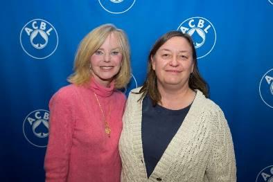 Emily Harrell and Benedicte Cronier,, winners of the Whitehead Women's Pairs.