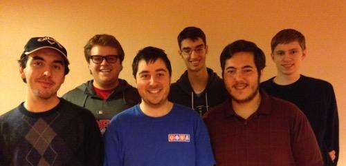 The Kaplan Team: Front Row: Zach Brescoll, Adam Grossack & Adam Kaplan; Back Row: Zach Grossack, Kevin Rosenberg & Ben Kristensen will be USA1 for the 2015 Patiño Cup (Under 26).