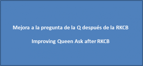 Improving Queen Ask after RKCB