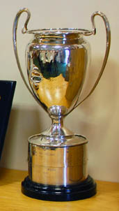 Photograph of the Camrose Trophy, awarded annually for the Home International bridge championships.
