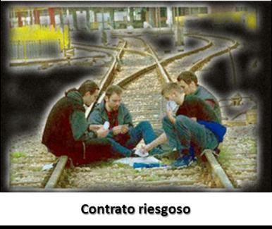 bridge cartoon contrato riesgoso