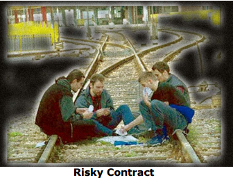 bridge cartoon risky contract
