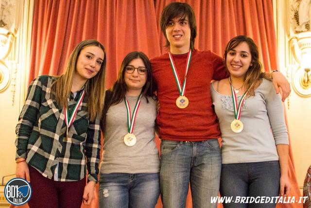 Michela Lazzaro, Irene Montalti, Emilio Benenati e Marta Milia