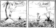 cartoon boat -land