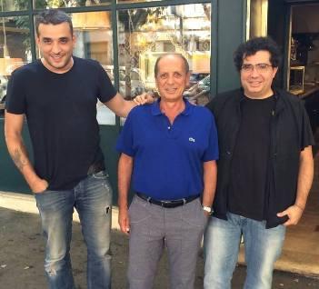Mustafa Cem Tokay, Lorenzo Lauria y Alfredo Versace