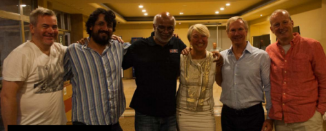 Jacek Pszczola, Justin Lall, Hemant Lall, Sabine Auken, Reese Milner y Roy Welland