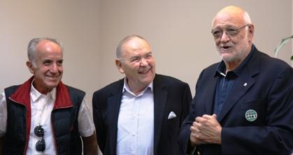Marcelo Caracci, Santiago Londoño y Gianarrigo Rona