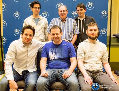 winners-of-the-mitchell-open-bam-teams-seated-alon-birman-jacek-kalita-michal-nowosadzki-standing-dror-padon-stan-tulin-and-kevin-dwyer