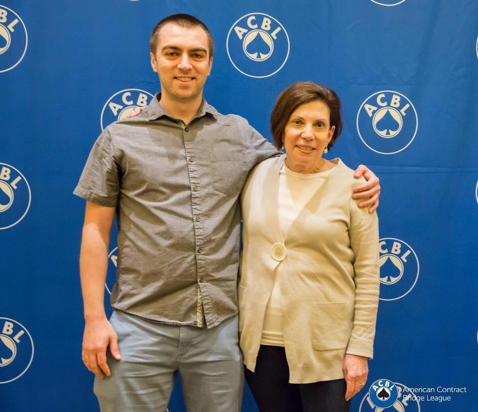 0-5000 Mini-Blue Ribbon Pairs winners, Radu Nistor and Joan Brody