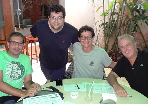 Adriano Rodrigues, Roberto Barbosa, Diego Brenner y Miguel Villas Boas