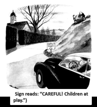 cartoon careful
