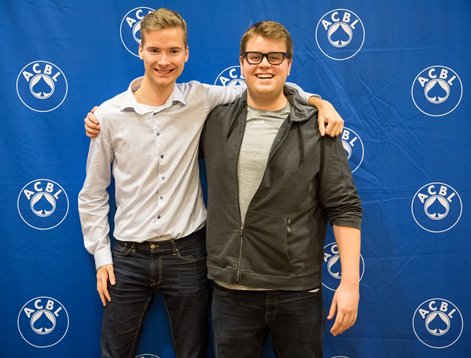 K 2017 Mikael Rimstedt and Zachary Grossack, winners of the Silodor Open Pairs.