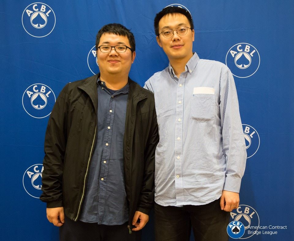 Chen Zhao and Jing Liu winners of the Lebhar IMP Pairs.