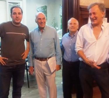 Carlos Pellegrini, Ernesto Muzzio, Hector Camberos y Carlos Lucena