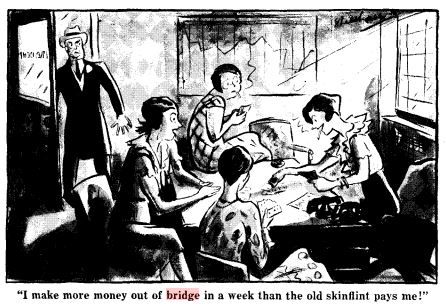 bridge cartoon money