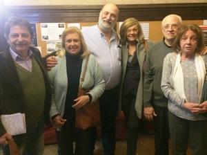 Julio Alfonsin, Marisu Llauro, Ricardo Poleschi, Silvia Boldt, Roberto y Matilde Espiasse