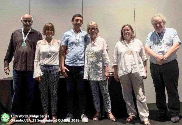 Hemant Lall, Petra Hamman, Sylvie Willard, Benedicte Cronier y Philippe Cronier.